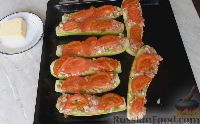 Рецепт молодых кабачков в духовке с помидорами