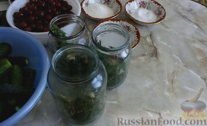 Огурцы с вишней на зиму