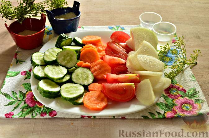 рецепт салата из помидоров лука моркови на зиму