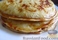 Фото к рецепту: Блины с твёрдым сыром