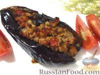 Фото к рецепту: Карныярык (фаршированные баклажаны по-турецки)