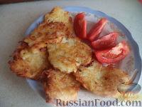Фото к рецепту: Драники из картофеля и кабачков (без яиц)