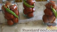 Фото приготовления рецепта: Острые маринованные помидоры с перцем и хреном (без стерилизации) - шаг №2