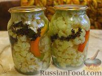 Фото к рецепту: Маринованная цветная капуста с базиликом (без стерилизации)