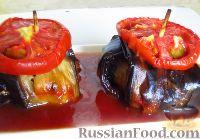 Фото к рецепту: Курдан кебаб (котлеты, завернутые в баклажаны)