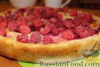 Фото к рецепту: Пирог с малиной