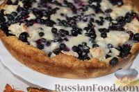 Фото к рецепту: Пирог с черникой и творогом