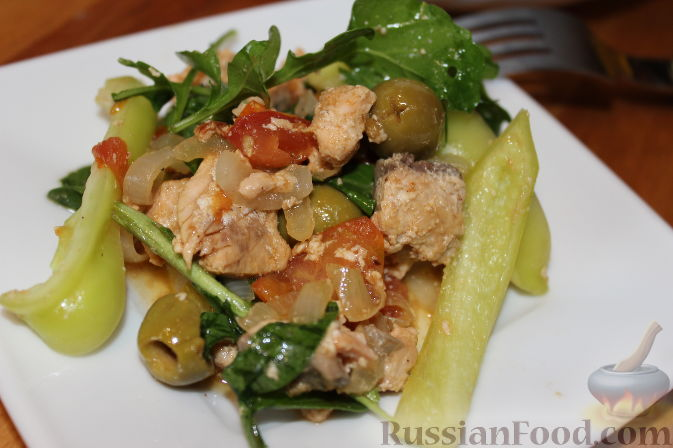 рецепт теплого салата с рукколой