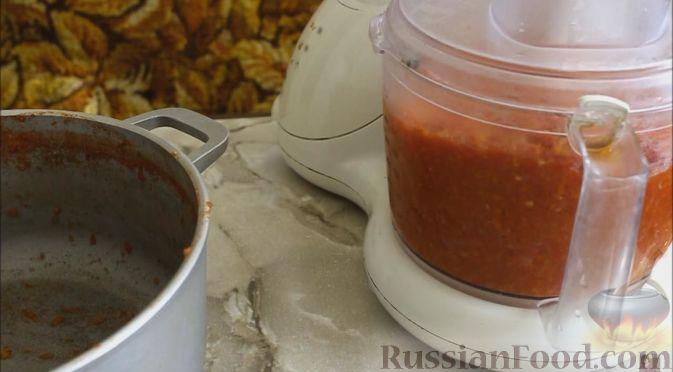 Фото приготовления рецепта: Томатно-яблочный соус (на зиму) - шаг №5