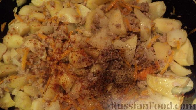рецепт рагу с мясом и картошкой на сковороде рецепт