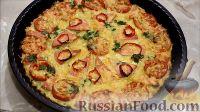 Фото к рецепту: Пицца из кабачков, с колбасой и помидорами