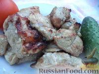Фото к рецепту: Шашлык из свинины в белом вине