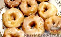 Фото к рецепту: Пончики в сахарной глазури