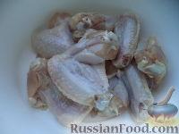 Фото приготовления рецепта: Куриные крылышки в соевом соусе - шаг №2