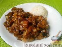 Фото к рецепту: Баклажаны жареные с чесноком и соевым соусом