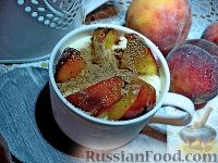 Фото к рецепту: Десерт из персиков, с маскарпоне