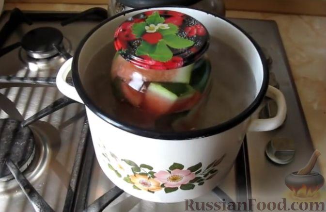 Фото приготовления рецепта: Маринованный арбуз (на зиму) - шаг №7
