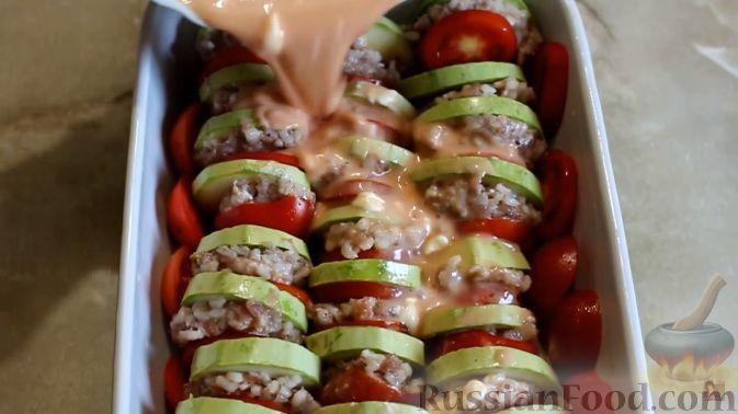 Кабачки запеченные с фаршем в духовке рецепты 76