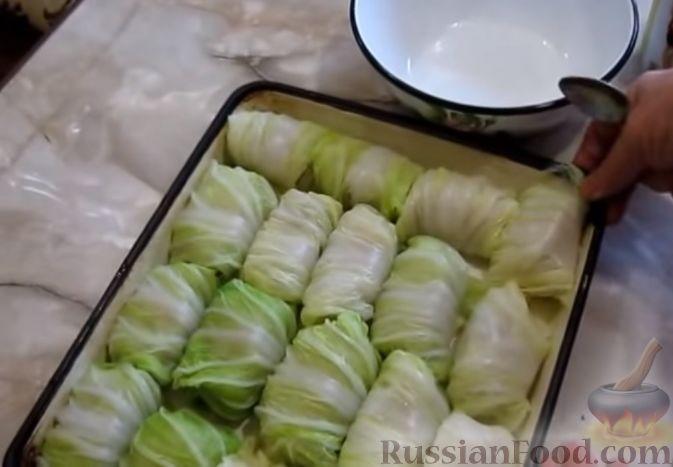 рецепт фарш капуста рис в духовке с