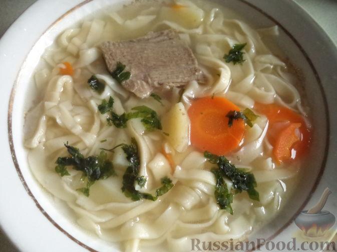 рецепт перлового супа с говядиной с фото