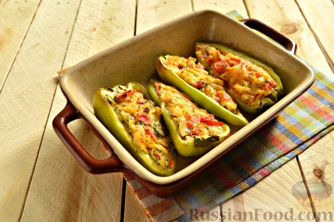 перец фаршированный запеченный в духовке рецепт с сыром и