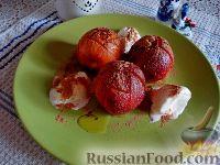 Фото к рецепту: Нектарины под сливочно-коричной корочкой, с пломбиром