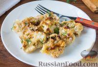Фото к рецепту: Запеченная цветная капуста с сырным соусом