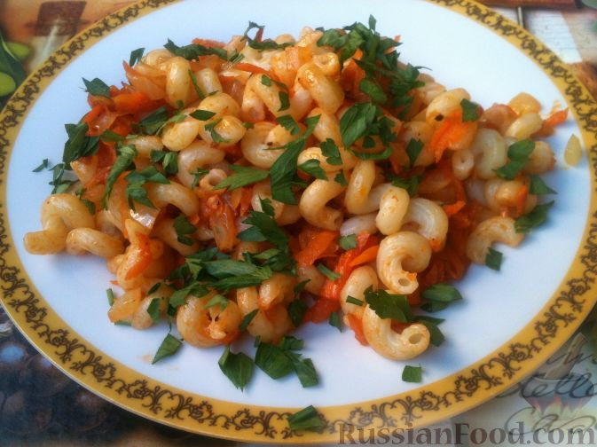 рецепты с макаронами с фото