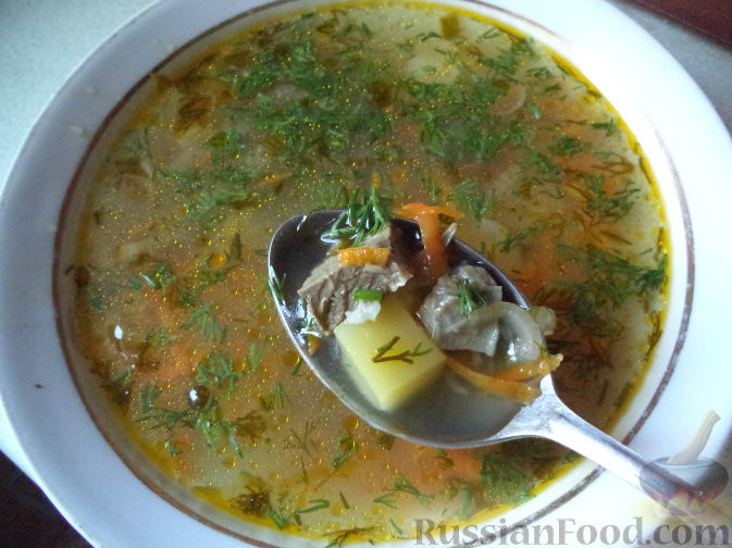 Дома суп с мясом рецепт