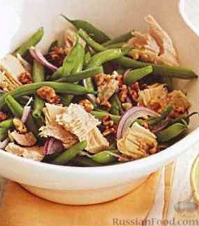 салат с тунцом и стручковой фасолью рецепт с фото
