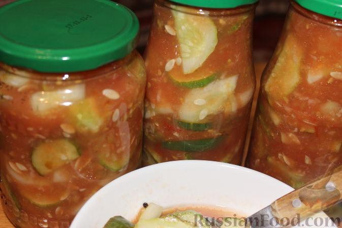 Как сделать огурцы в томатном соусе на  697