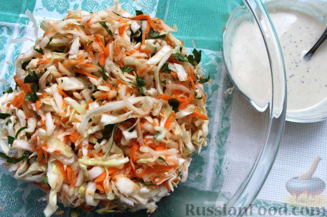 """Фото приготовления рецепта: Салат """"Коул-Сло"""" (Coleslaw) с кольраби - шаг №11"""