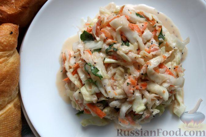 """Фото приготовления рецепта: Салат """"Коул-Сло"""" (Coleslaw) с кольраби - шаг №12"""