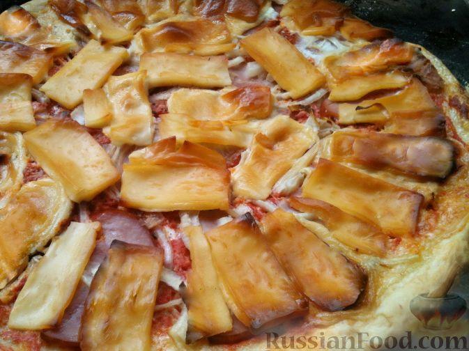Пицца с плавленным сыром рецепт с фото пошагово