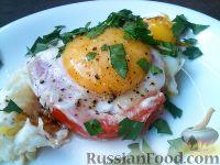 Фото к рецепту: Помидоры с яйцами жареные