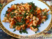 Фото к рецепту: Макароны с овощной поджаркой
