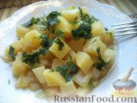 Фото к рецепту: Рагу из картофеля и кабачка