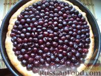 Фото к рецепту: Пирог дрожжевой с вишнями или черешнями