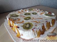 Фото к рецепту: Фруктово-желейный торт