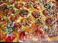 Фото к рецепту: Запеканка из кабачков, с фаршем и помидорами