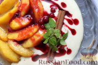 Фото к рецепту: Десерт из персиков с ликером
