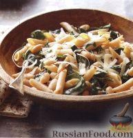 Фото к рецепту: Паста с фасолью и шпинатом