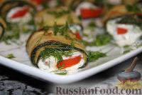 "Фото к рецепту: Рулетики ""Тещин язык"" из цуккини (Zucchini Rolls)"