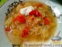 Фото к рецепту: Щи из свежей капусты без картофеля