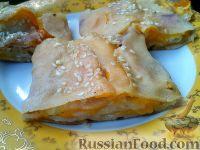 Фото к рецепту: Штрудель с персиками и кунжутом