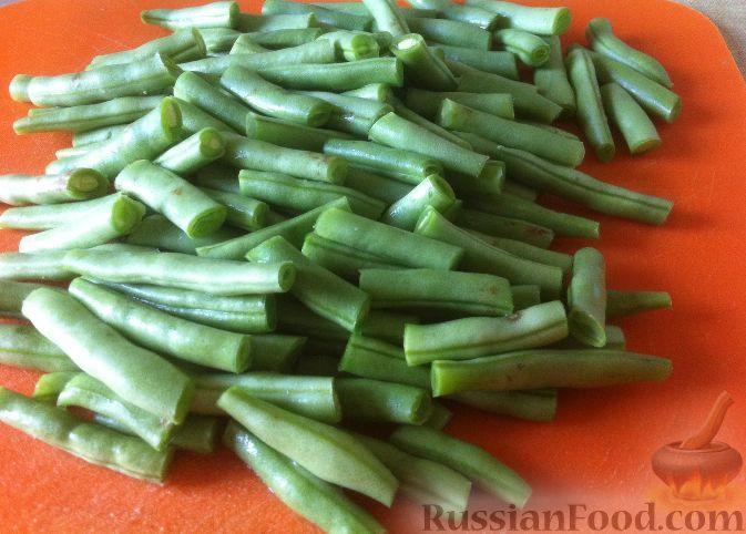 рецепт приготовления салата из стручковой фасоли
