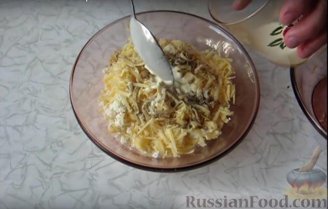 Начинка для слоеного теста из творога и сыра
