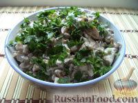 Фото приготовления рецепта: Салат из говяжьей печени - шаг №13