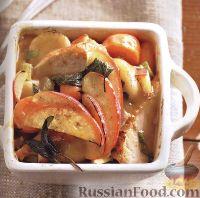 Фото к рецепту: Рагу из замороженных овощей, с отварной курицей или индейкой
