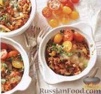 Фото к рецепту: Рагу с перловкой, овощами, колбасой и грибами